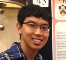 Ben Liu '15 with his poster