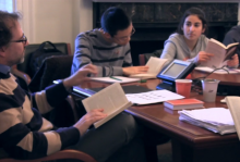 A Humanities Sequence class. Image by Nick Barberio, Office of Communications.