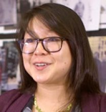 Princeton University senior Wendy Li, above, is writing her thesis in the Woodrow Wilson School of Public and International Affairs while pursuing a certificate in visual arts. In this video, she talks exploring her family history through photography.    Video still from Danielle Alio, Office of Communications