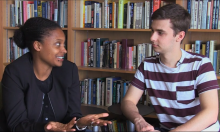 Tracy K. Smith and Alec Lowman '16. Image courtesy of the Offices of Annual Giving and Development Communications.