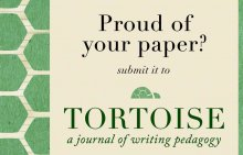 Submission request for the Tortoise writing journal. Courtesy of Kelly Rafey, class of 2016.