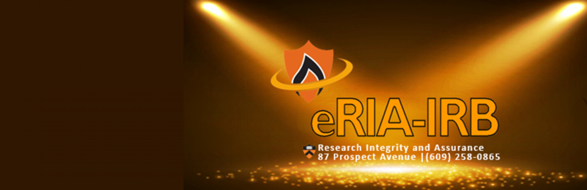 eRIA banner with contact information